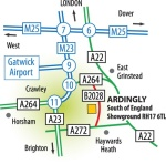 Ardingly Antiques Fair Map