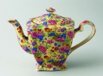 1930s Royal Winton 'Kinver' pattern, Ascot' shape teapot
