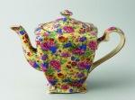 1930s Royal Winton 'Kinver' pattern, Ascot' shape teapot