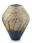 A very rare 'Golden Rain' geometric vase, made from 1985-87