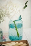 my wedding Blue Ball Mason jar