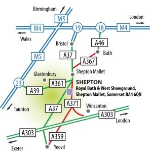 IACF Shepton Mallet Map