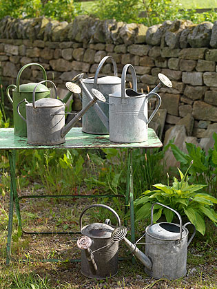 002 VINTAGE WATERING CANS RE FOUND OBJECTS