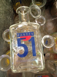002 Pastis carafes on stall