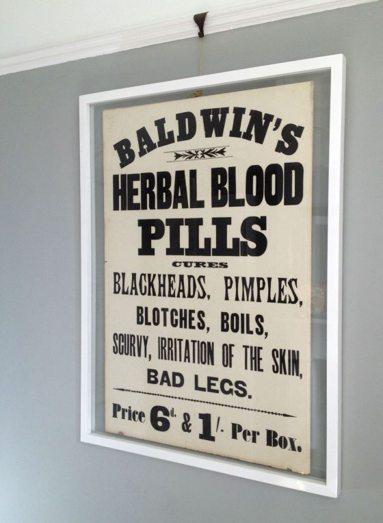 Baldwin's Herbal Blood Pills poster, circa 1880.