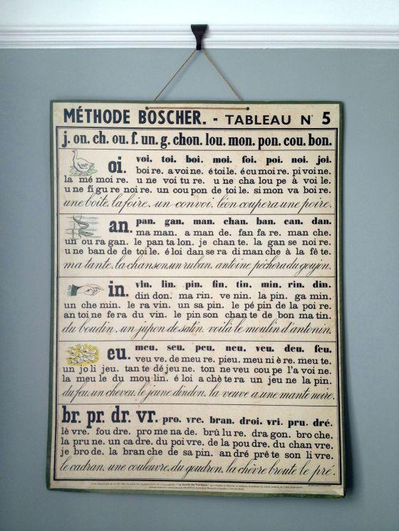 1950s Méthode Boscher French classroom poster.